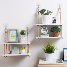 Wood Shelf Shelves-Hooks Rack Decorative-Wall