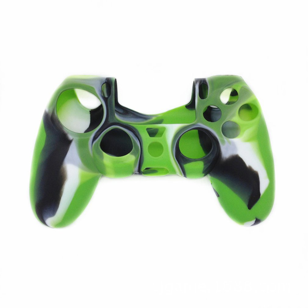 Camouflage Design Soft Silicone Case Cover For Playstation PS4 Controller Game Handle Silicone Sleeve Supplies