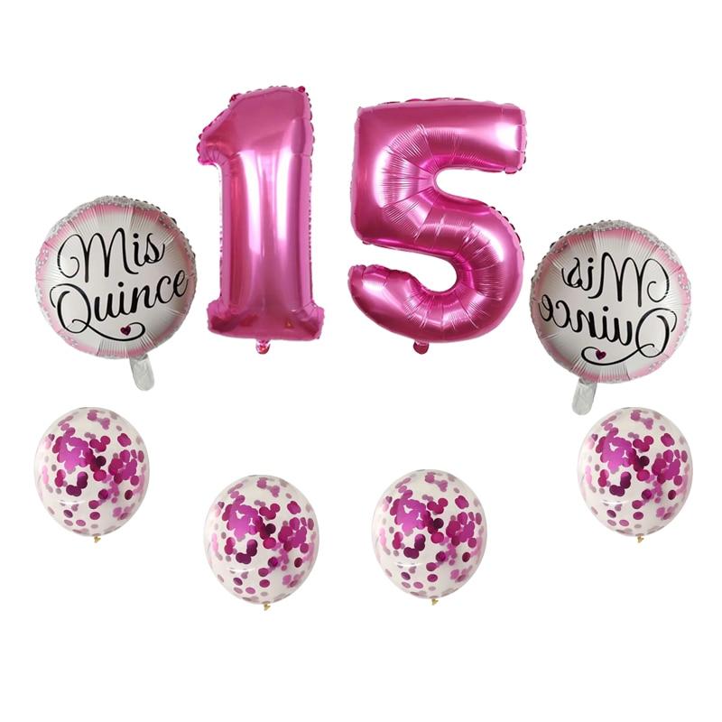 globos 24 pcs Ballons Mis quince