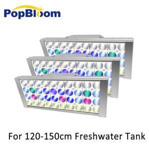 PopBloom аквариумный светодиодный светильник для аквариума, светодиодная лампа для пресноводного аквариума, аквариумный риф с регулируемой яр...