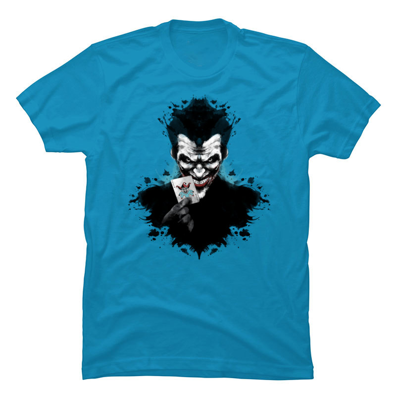 Joker_Ink_963 Crewneck T Shirts Summer/Autumn Tops Tees Short Sleeve Cute 100% Cotton Funny T-shirts Party Mens Joker_Ink_963 light