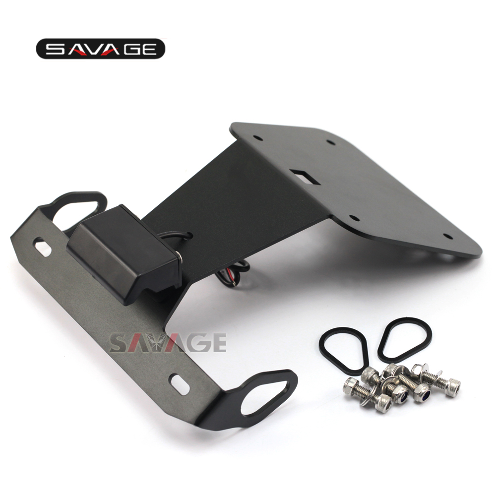 Motorcycle universal tail tidy black fits standard number plate