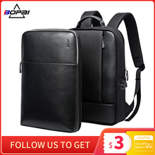 Backpacks Notebook Laptop School-Bag BOPAI Waterproof Detachable Men for Male Slim 2-In-1