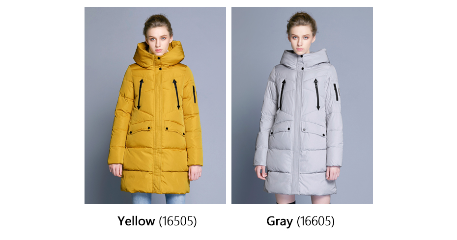 ICEbear 19 New Women Winter Jacket Coat Slim Winter Quilted Coat Long Style Hood Slim Parkas Thicken Outerwear B16G6155D 3