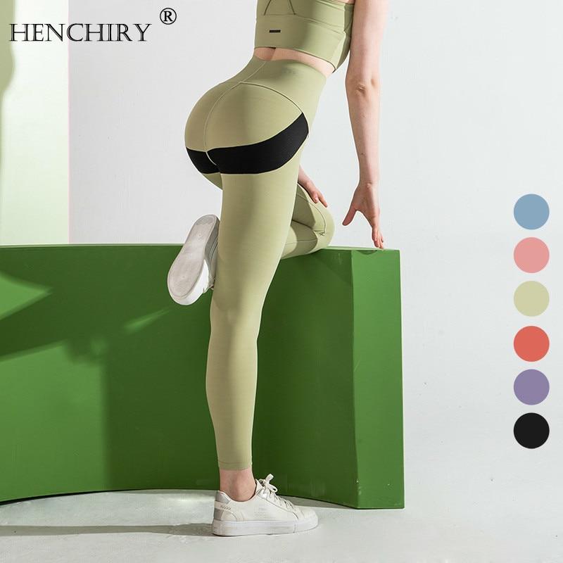 HENCHIRY Brand High Quality Pocket Skinny Track Pants Women/'s Buttocks & Feet Workout Leggings Women Sports Running Fitness Pant