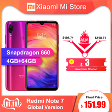 Xiaomi Redmi Note 7 4GB 64GB LTE/GSM/WCDMA Quick Charge 4.0 Bluetooth 5.0 Octa Core Fingerprint Recognition
