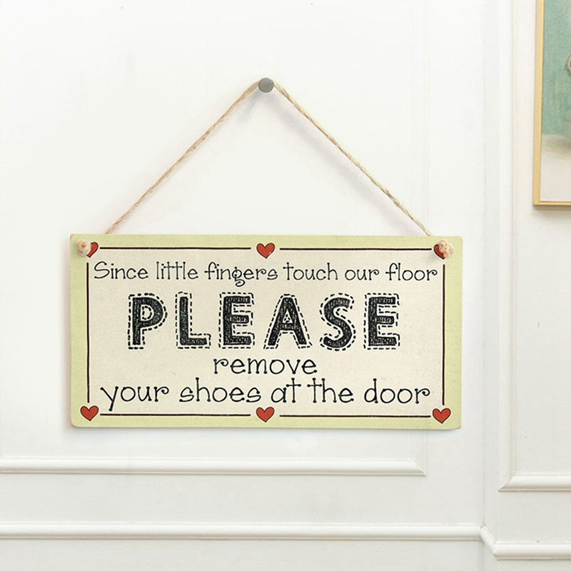 1PC Funny Hanging Door Signs Wall Plaques Wooden Chic Home Decor Coffee Store US