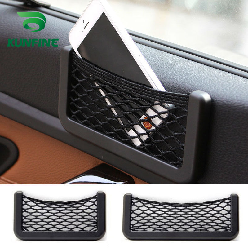 Car Multifunctional Phone Storage Net String Bag Phone Holder Ticket Pocket A