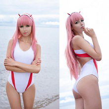 Bodysuit Two-Cosplay-Costume DARLING Zero In-The-Franxx Wigs Halloween Anime Sexy Women