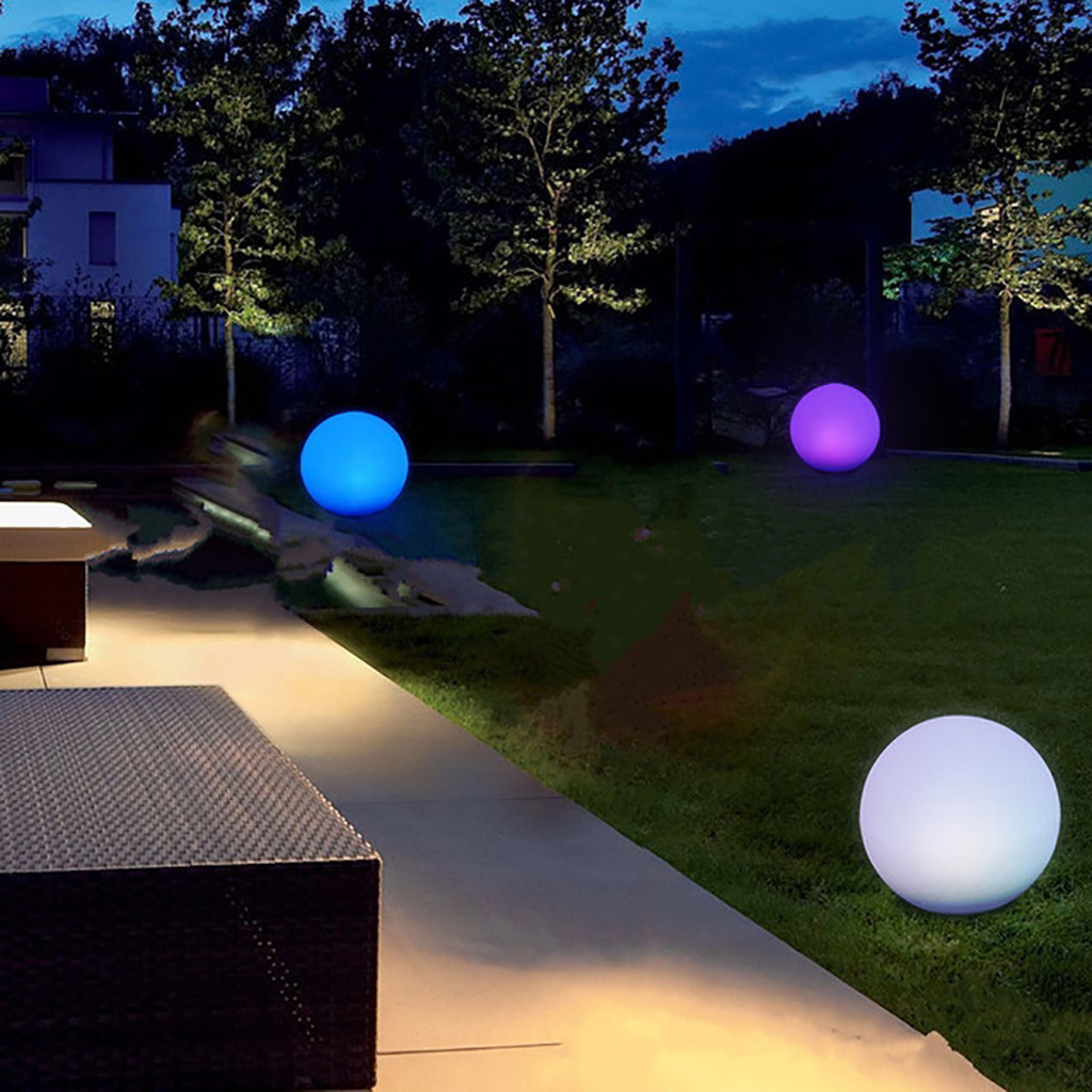 Sphere - Rechargeable LED Swimming Pool Floating Ball Lamp Waterproof Outdoor Home Wedding Garden KTV Bar Holiday Party Decoration