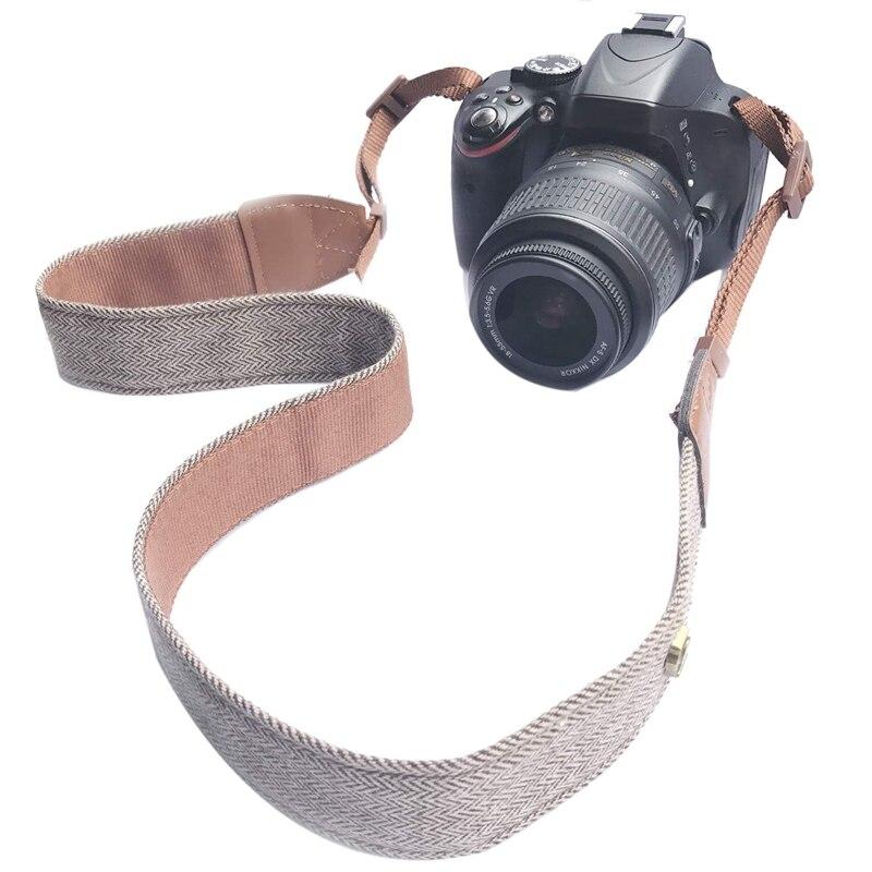 Cámara SLR Cámara Hombro Cuello Correa Cinturón Vintage para todo D Nikon Sony Pent K9D1