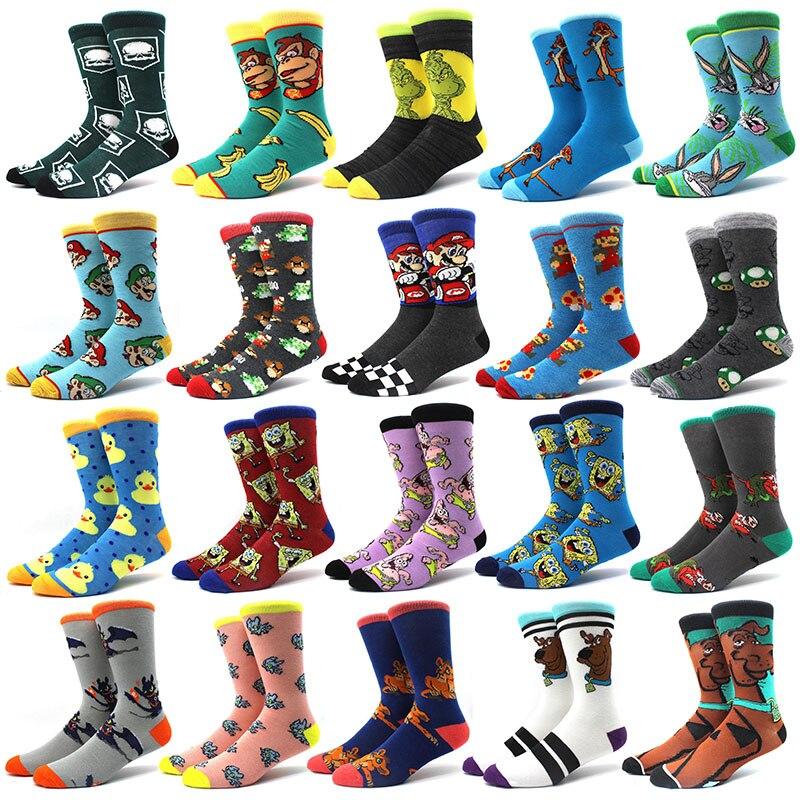 Ninetailed Fox Socks Mens Womens Casual Socks Custom Sports Socks Creative Fashion Crew Socks