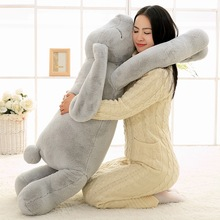 Stuffed Pillow Plush-Toys Animal Ear-Bunny Girl Gift Rabbit Soft Cartoon Big Lovely