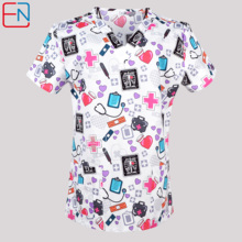 Uniformes Scrubs-Top Nursing Women Cotton