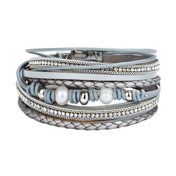 26 Design Vintage Multiple Layer Leather Bracelet For Women Men New Bead Pearl Charms Wrap Bracelets 2019 Femme Fashion Jewelry