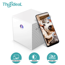 Mini Projector Phone-Screen Thundeal Portable Home Cinema 1080p-Video DLP for 3D Beamer