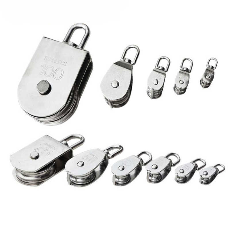 Silver Pulley Block Swivel Sheave Rope Pulley Rope Wheel for Climbing M15-M100