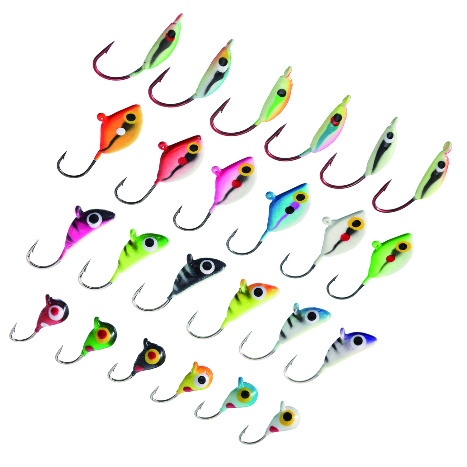 Artificial Walleye Swim Jigs Soft Body Ice Fishing Hooks Winter Fish Lures