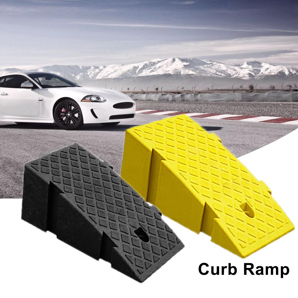 Portable Wheel Chocks Lightweight Curb Ramps Heavy Duty Plastic Threshold Ramp Kit for Car Trailer Truck Bike Motorcycle 50x27x13cm