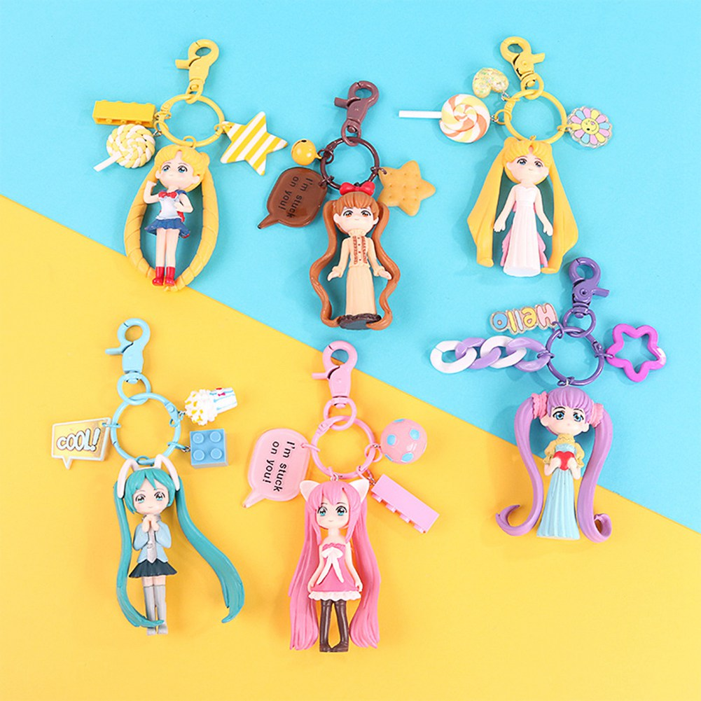 Cartoon Totoro Keychain Backpack Pendant Birthday Festival Gift