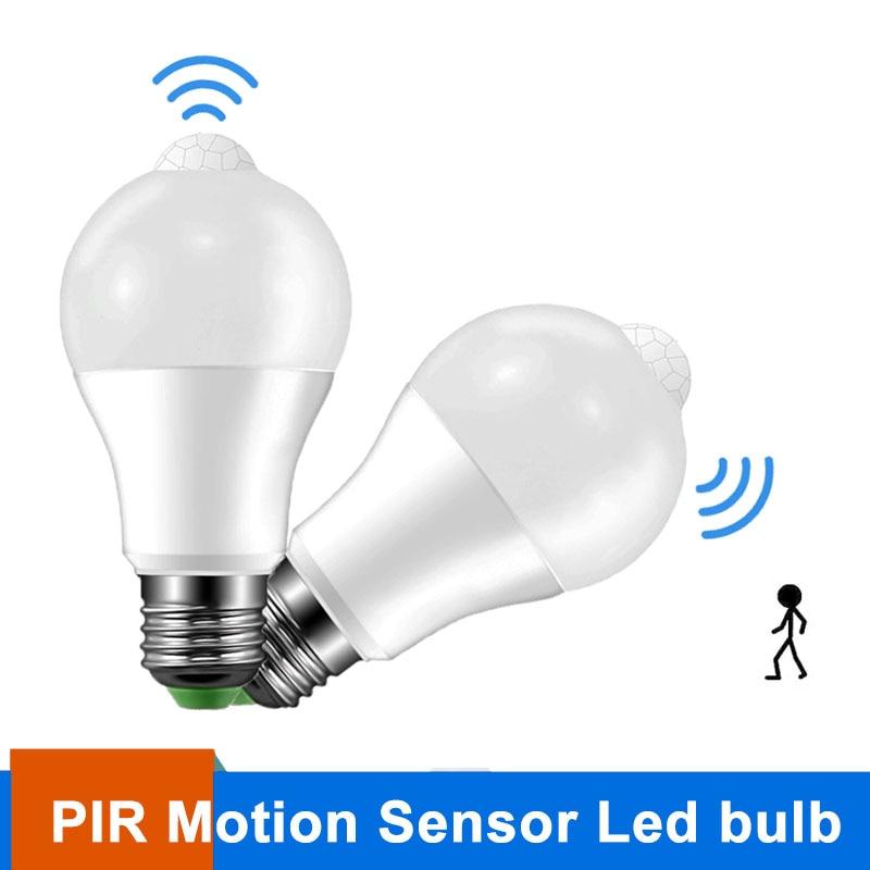 E27 Smart LED Bulb Light 220V 110V Motion Sensor LED Lamp 5W 9W Body Induction PIR LED Bombillas For Home Corridor Aisle Stairs