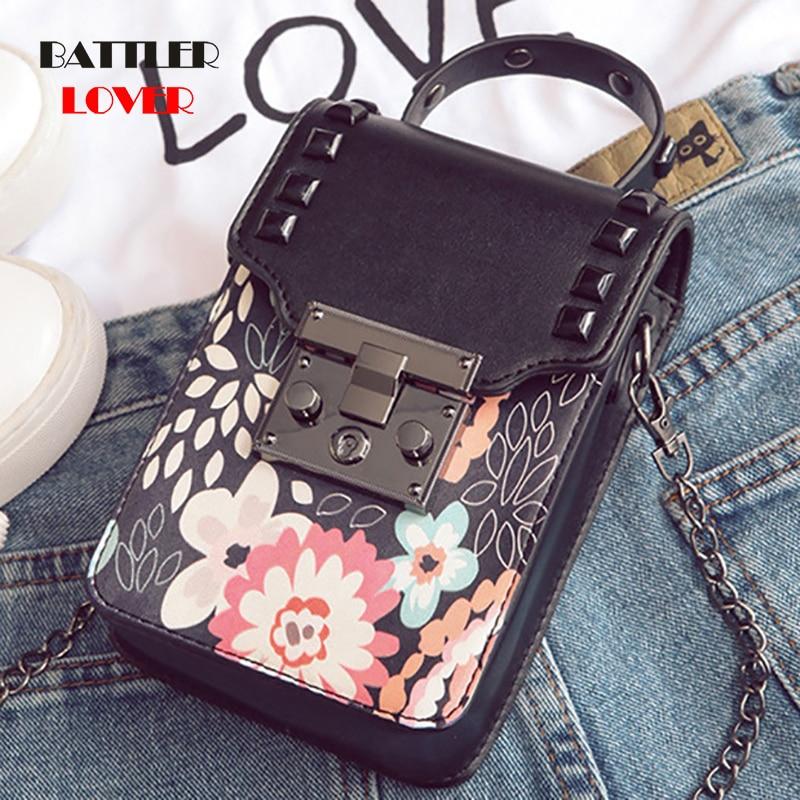 latest women shoulder bag crossbody messenger bag chain square box shape with cartoon flower small fashion handbag bag for girls