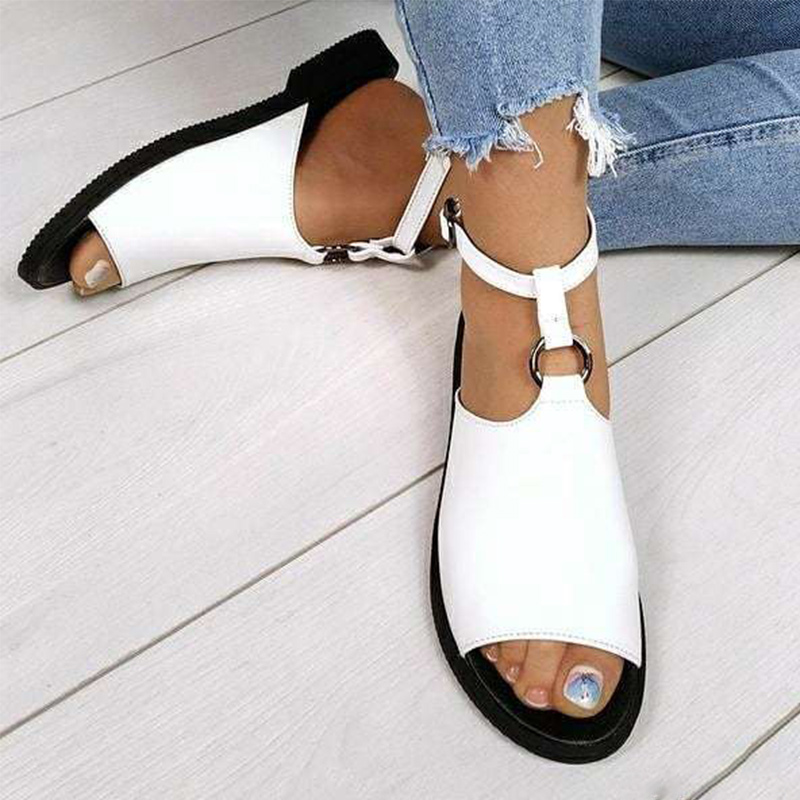 Women Sandals Ladies Peep Toe Shoes Female Casual Buckle Strap Ladies Shoes Women