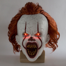 Latex Masks Helmet Horror Joker Cosplay Halloween Stephen King Two-Clown Pennywise Party-Props