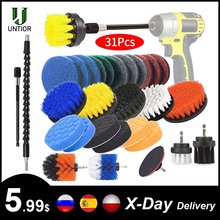 Drill-Brush Power-Scrubber-Brush Cleaning-Kit Attachment-Set UNTIOR Bathroom Kitchen