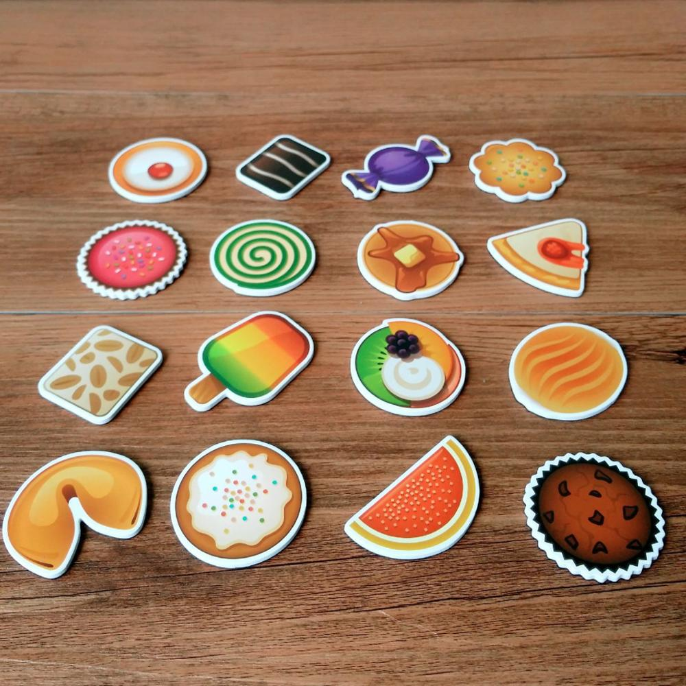 16pcs/set Cartoon Animal Fridge Magnet Souvenir for Kids Cute Dessert Stickers on the Fridge Refrigerator Magnets