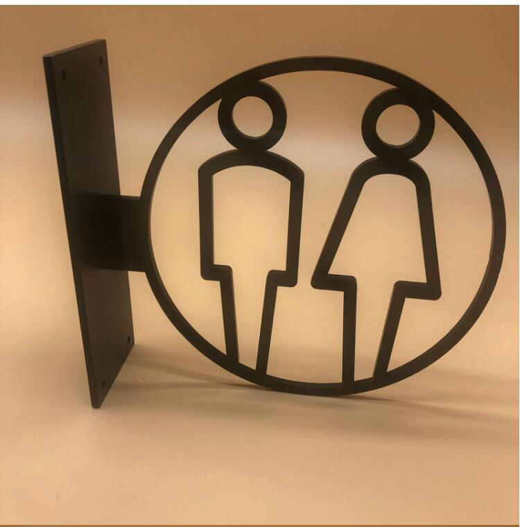 Women Toilet Signage WC Stickers Plate Creative High Quality Door Wall Sign Y3