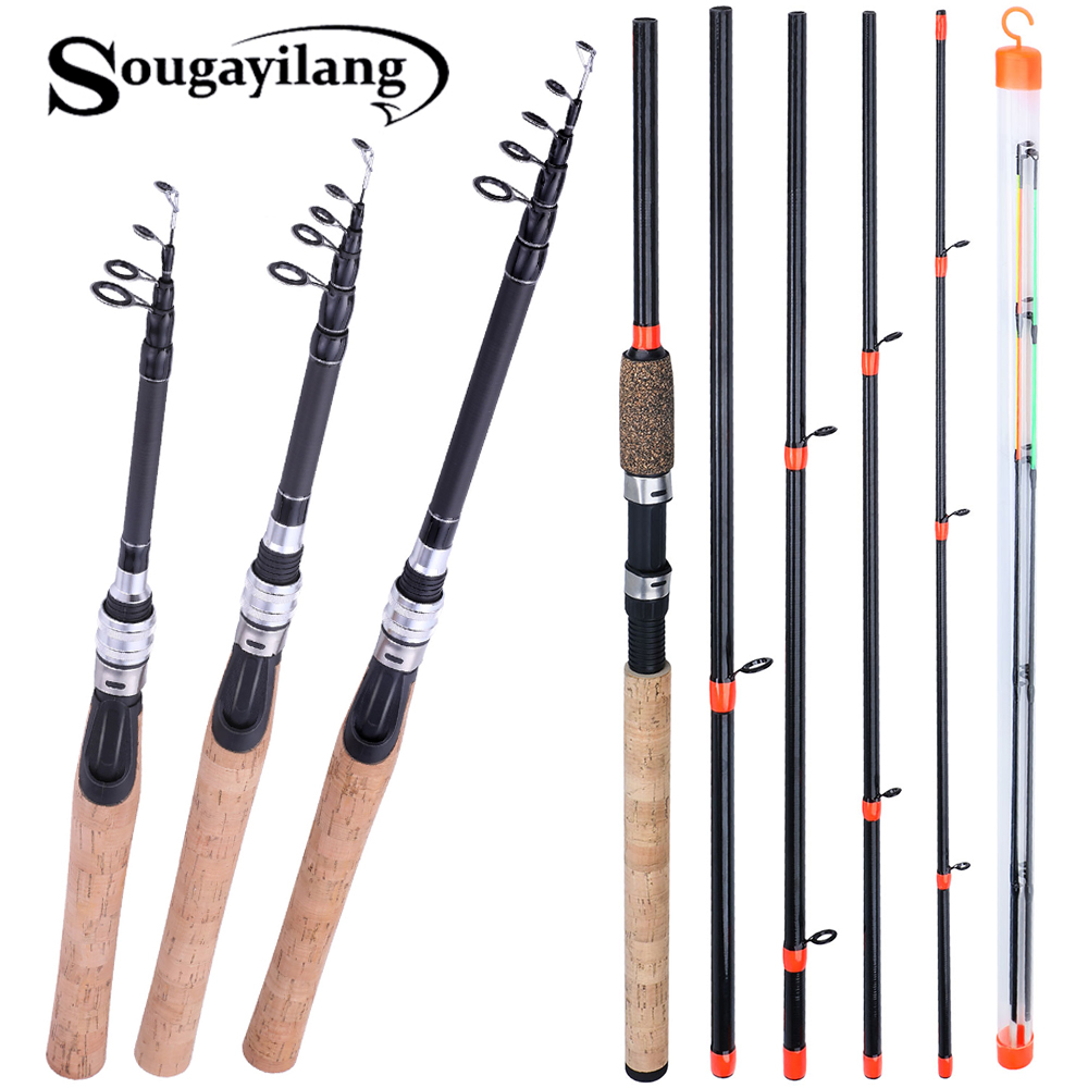 Sougayilang 6-Section-Feeder Rod Fishing-Rod Travel-Rod Ultralight-Weight Carbon-Spinning title=