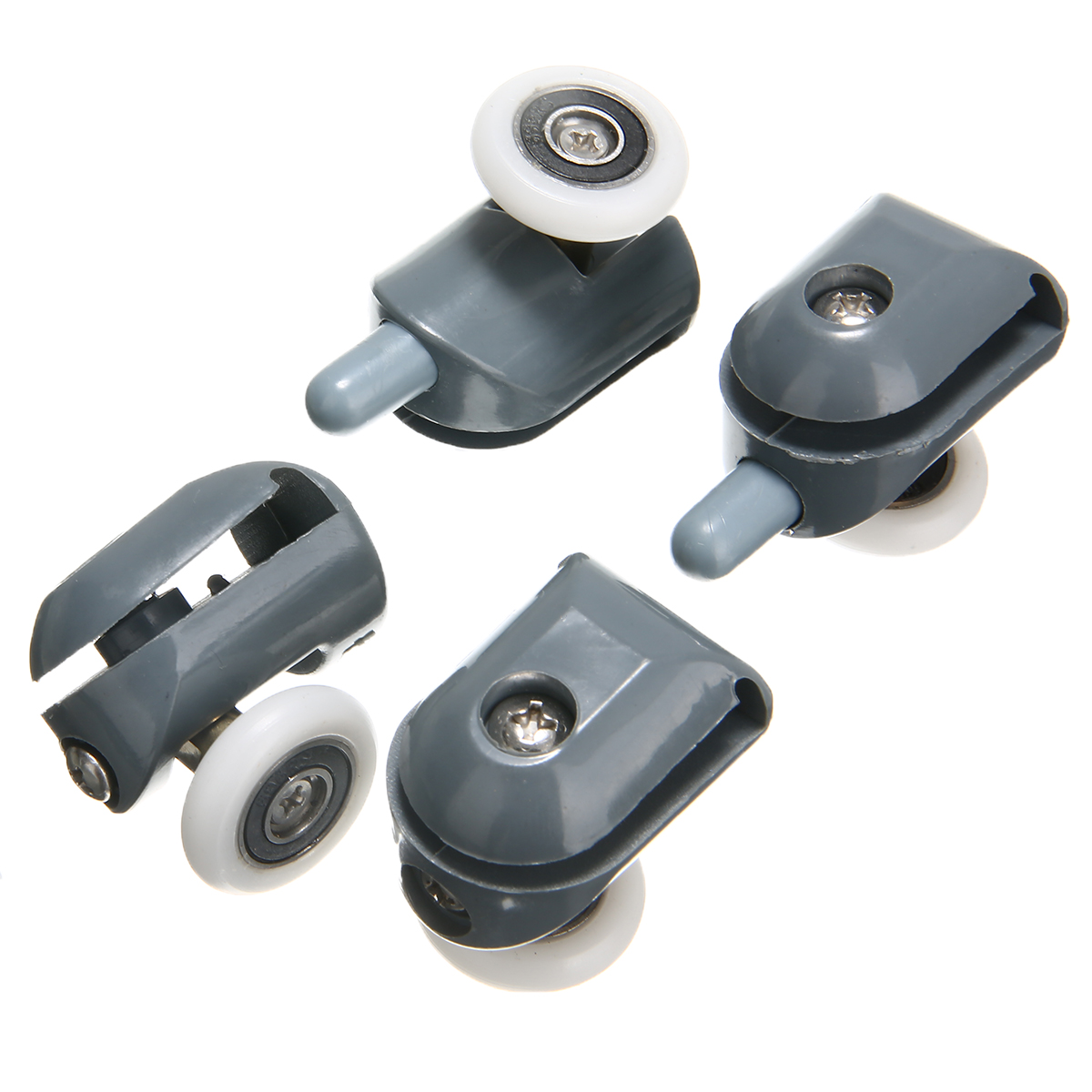 8pcs 23mm Single Shower Door Roller Wheel Runner Pulley Anti-collision Block Set