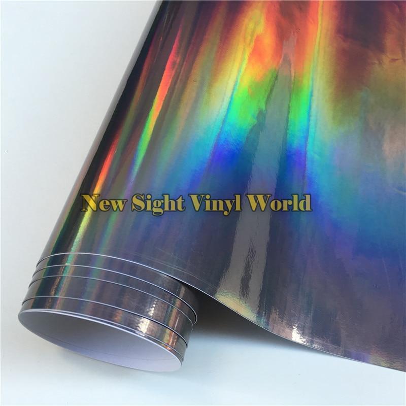 Rainbow-Chrome-Black-Holographic-Vinyl-Wrap (6)