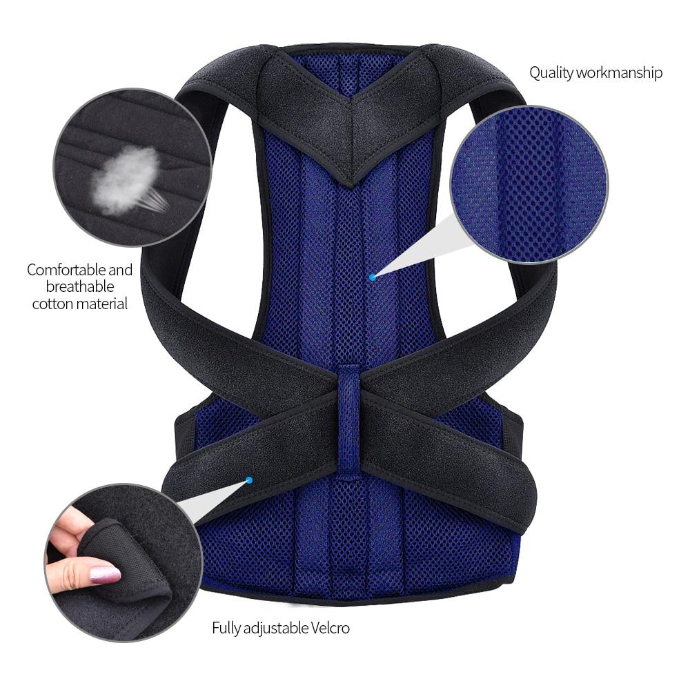 Vest - Back Waist Posture Corrector Adjustable Adult Corset Correction Belt Trainer Shoulder Lumbar Brace Spine Support Belt Vest