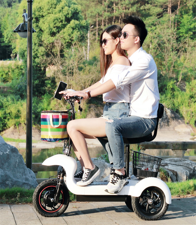 Daibot Electric Tricycle Bike 3 Wheels Electric Scooters Single Motor 500W 48V WhiteBlack Electric Scooter With Seat Adults (5)