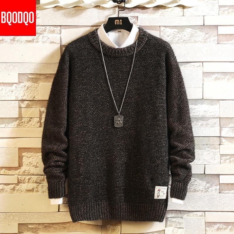 Men Kint Sweater Graphics Print Jumper Top Autumn Winter Casual High Neck Pullover