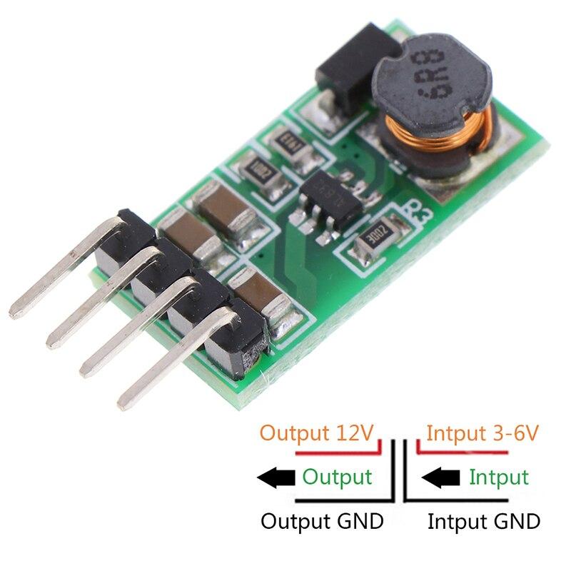 1PC DC 3.3v 3.7v 5v 6v To 12v Step-up Boost Voltage Regulator Converter Module