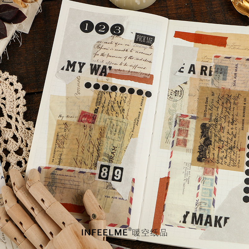 60 pcs/pack Vintage bill stamp newspaper Decorative Stationery Stickers Scrapbooking DIY Diary Album Stick Lable