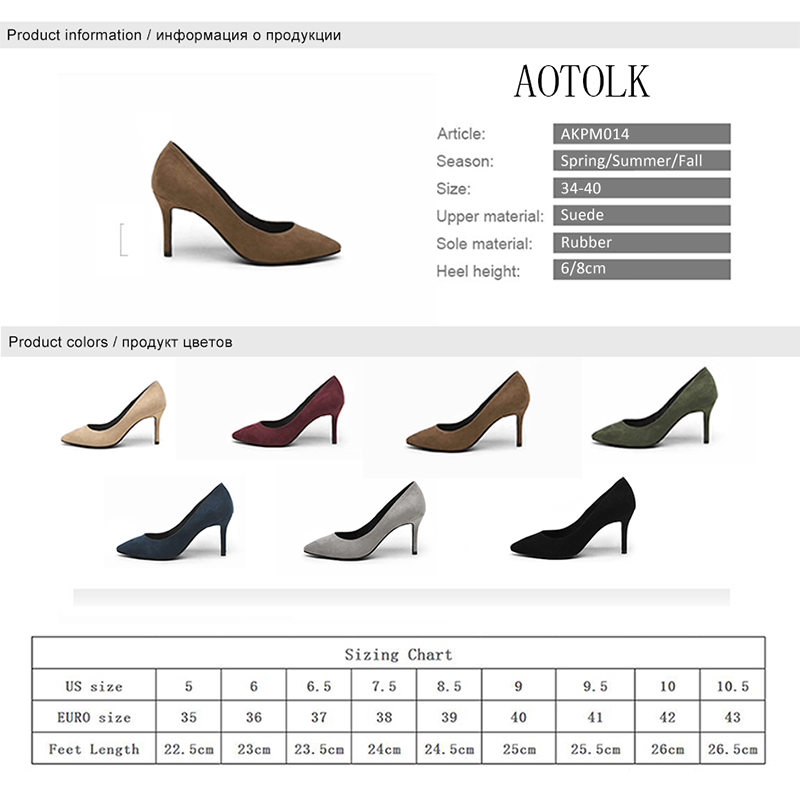 Women High Heels Female Shoes Women Pumps Solid Pointed Toe Wedding Shoes Spring Autumn Elegant Offical Ladies Shoes Plus Size