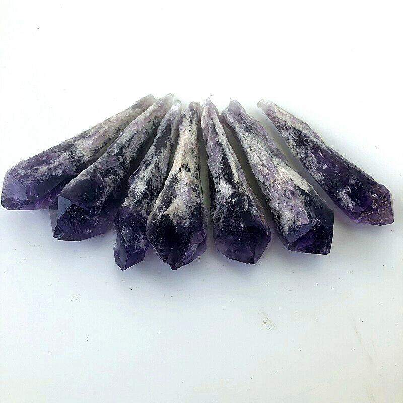 Large Natural Dyed Quartz Crystal Points 500 Carat Lot Reiki Mineral Wand