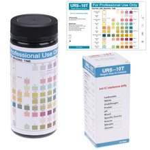 100strips Urinalysis Reagent Test Paper 10 Parameters Urine Test Strips URS-10T pH