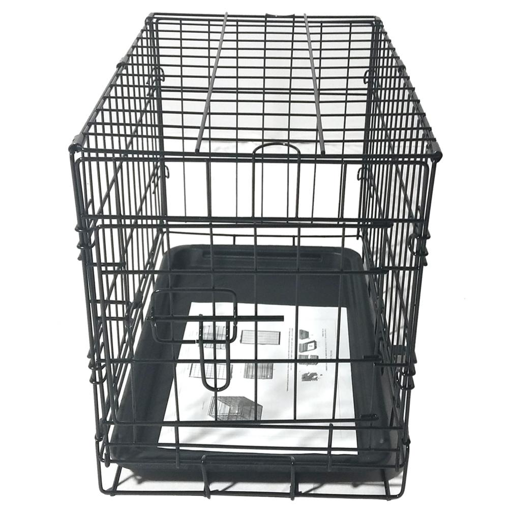 Furniture - 20inch Black Steel Dog Crate Pet Kennel Wire Metal Cage