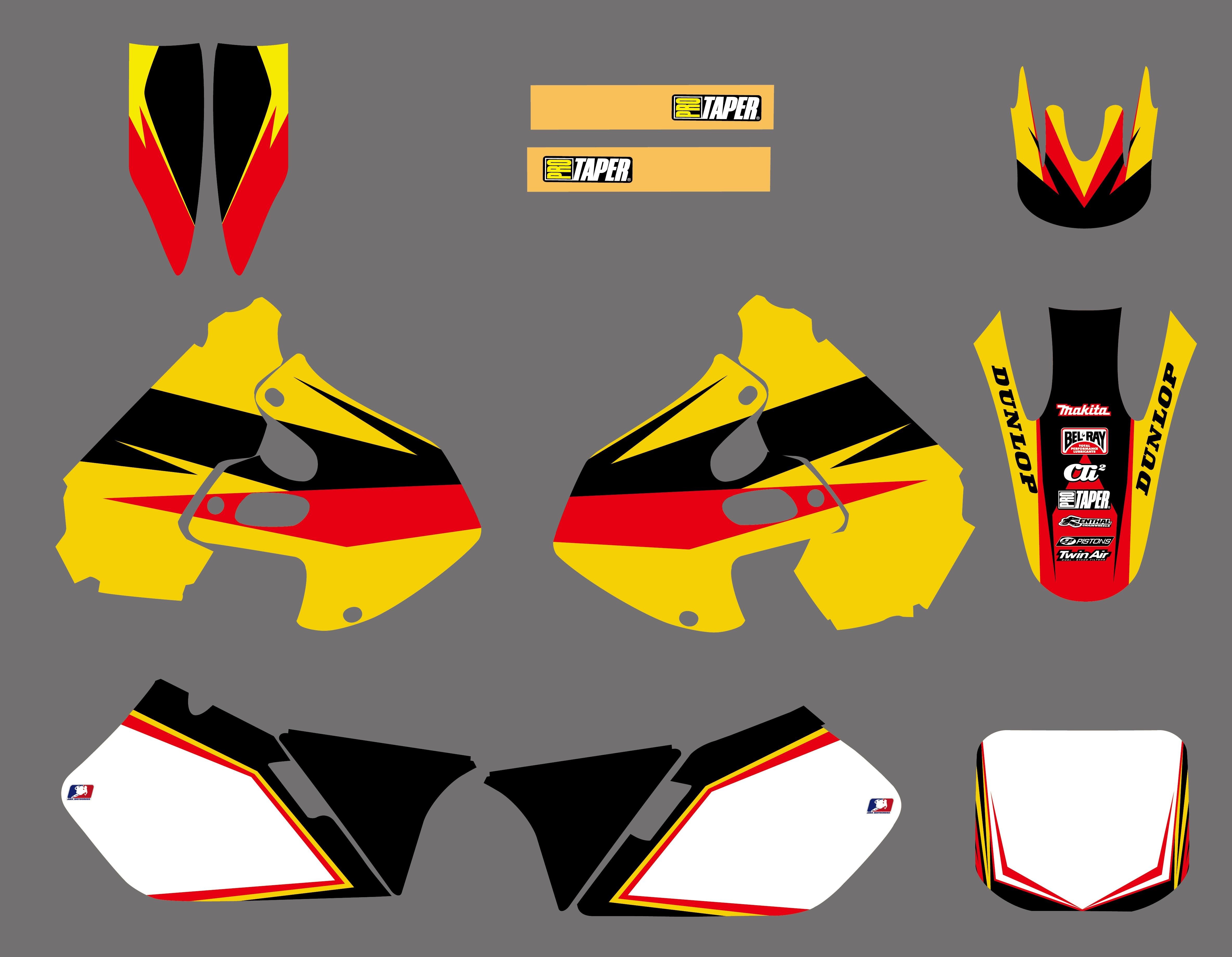 Full  Custom Graphic  Kit SUZUKI RM 125-1999 STORM 2000
