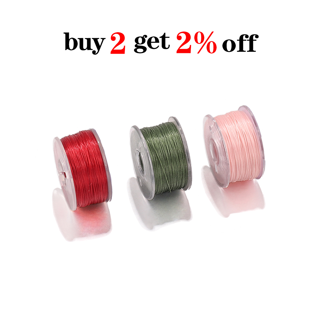 46m/Roll High Quality Seed Beads Cord String Beading Thread For DIY Bracelet Jewelry Making Accessories Supplies (Nonelastic)