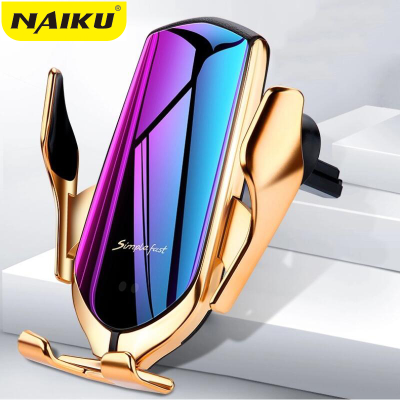 Wireless-Charger Car-Phone-Holder Automatic-Clamping Induction Qi iPhone Xs Huawei 10W title=
