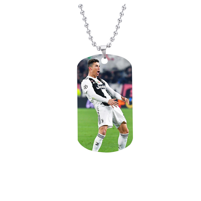 CR7 pendant,Cristiano Ronaldo Necklace Pendant,Football Jewelery Stainless Steel