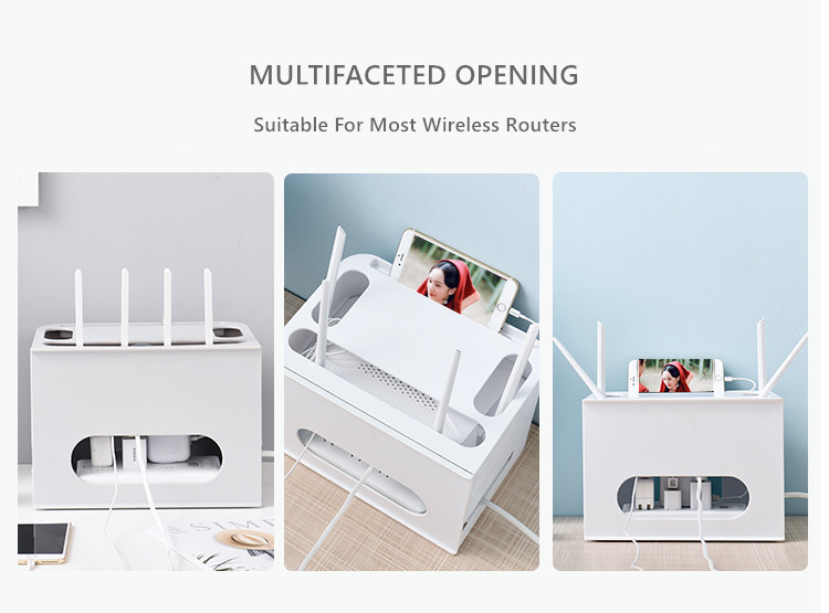 Double Layers Drawer Type WIFI Router Storage Box 64