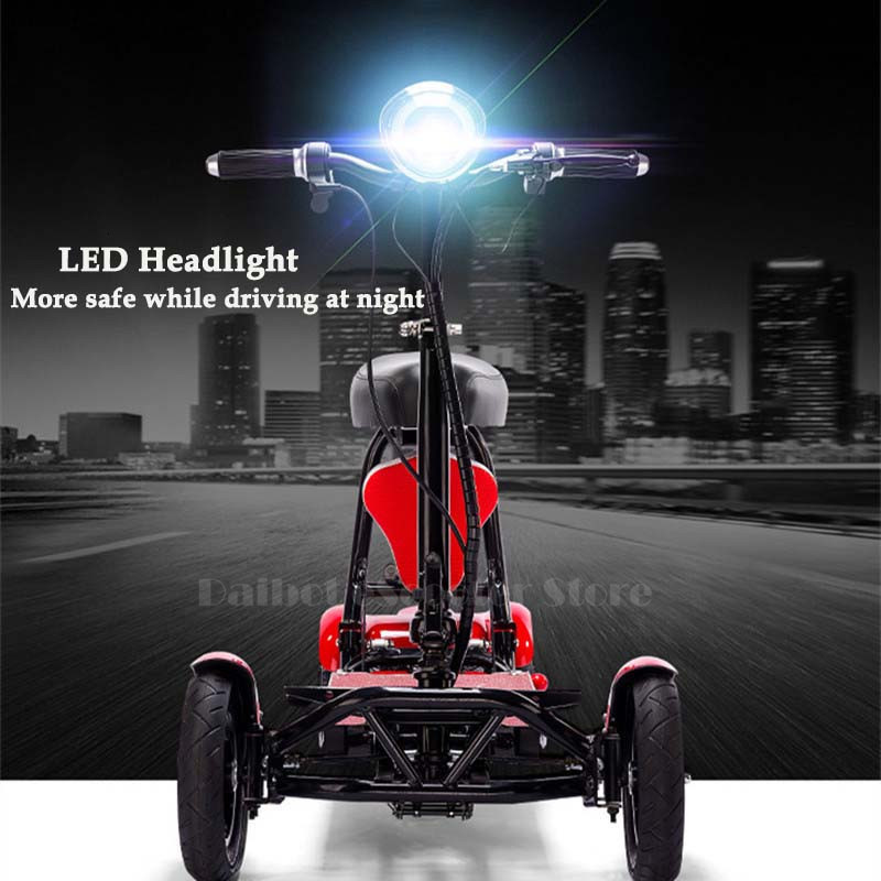Daibot Electric Elderly Scooter 4 Wheels Electric Scooters 10 Inch 500W Foldable Electric Scooter For Disabled BlueBlackRed (24)