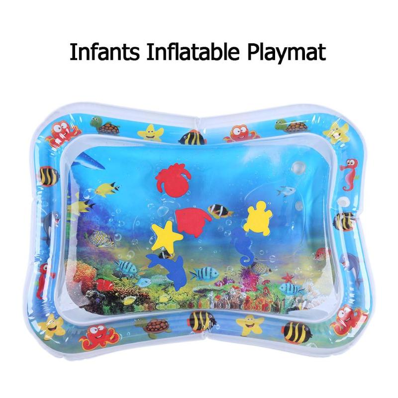 66x50cm Inflatable Water Mat For Baby Toddler Mat Splash Playmat Tummy Time UK